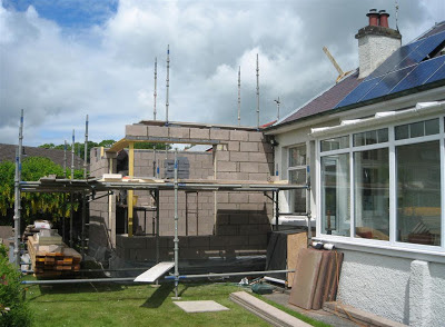 CB3 Design Architects, Domestic extension, Lauder, Scottish Borders.  Site visit image 1.