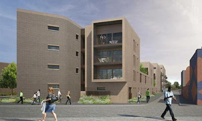 The Point, New Islington, Manchester, residential development, artists impression of apartment block