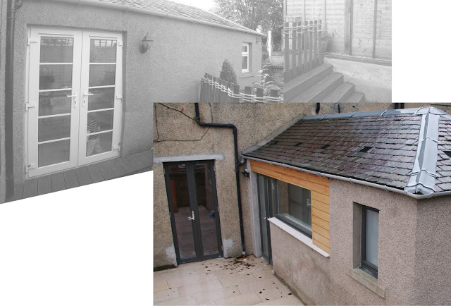 New courtyard, kitchen alterations, cb3 design, Scottish Borders, Architects
