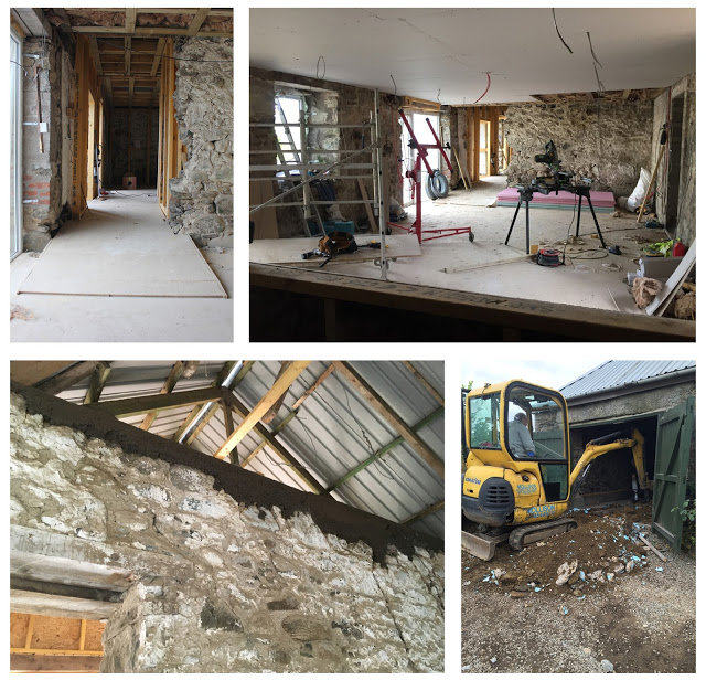 on site photos of steading conversion in progress