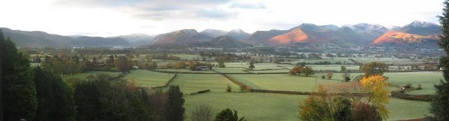 Panoramic photo of view from cb3 design Lake District house