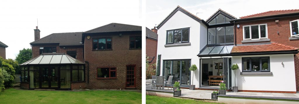 Rear Facade: Before & After