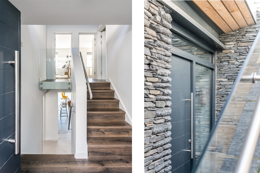internal and external images of new entrance lobby split level Lake District