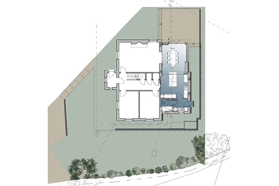 architect plan, floor plan, house extension, Peebles