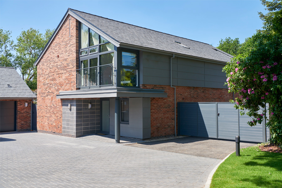 bespoke residential development including barn conversions, thelwall conservation village, cheshire architects