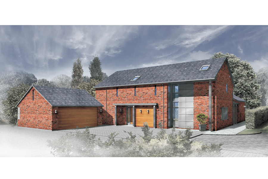 barn conversions, warrington, new build homes, computer rendering