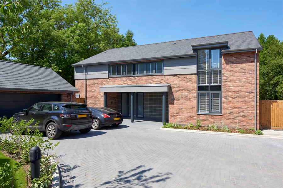 new build redbrick house, thelwall,