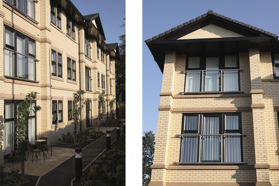 window details of 3 storey apartment block, timperley, Park gates, Stirling Property,
