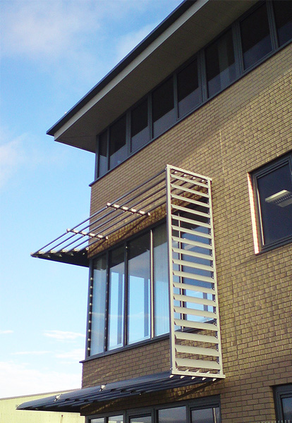 brise soleil on spec office building Widnes