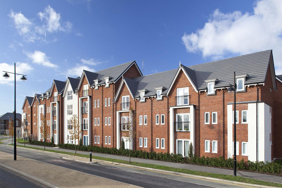 New build townhouses, front elevation, architects, Warrington