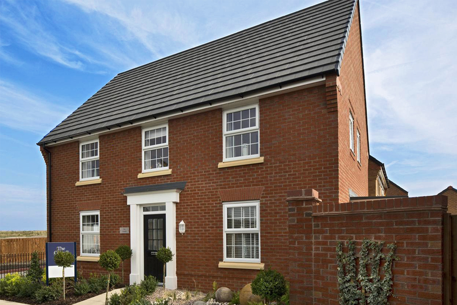 bespoke residential development, build detached house, red brick, Warrington, David wilson homes, architect