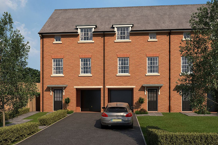 semi detached townhouses, integral garage, new build, developer homes, Warrington