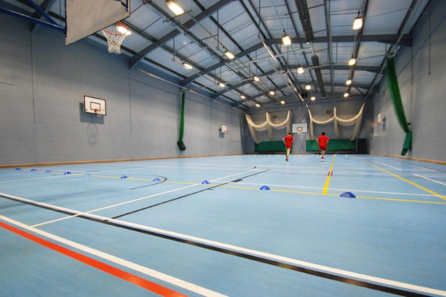 refurbished school sports hall, Loretto School, East Lothian