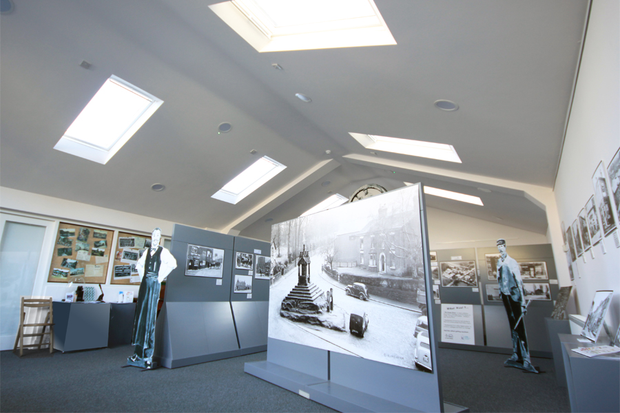 Lymm Heritage Centre, exhibition interior, architects Cheshire