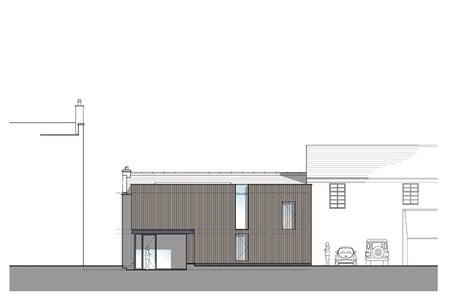 private school student centre, front elevation, student language centre, Musselburgh East Lothian