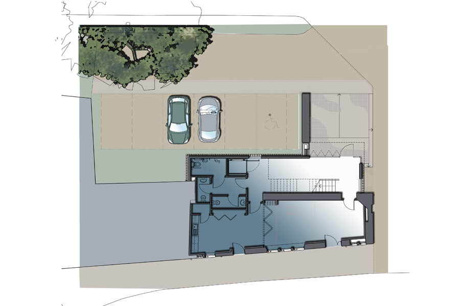 private school international student centre site plan, architectural drawing, Musselburgh East Lothian