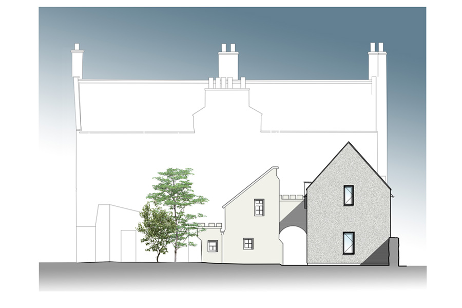extension to listed school building fro Boarding accommodation