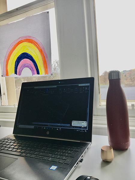 home office rainbow
