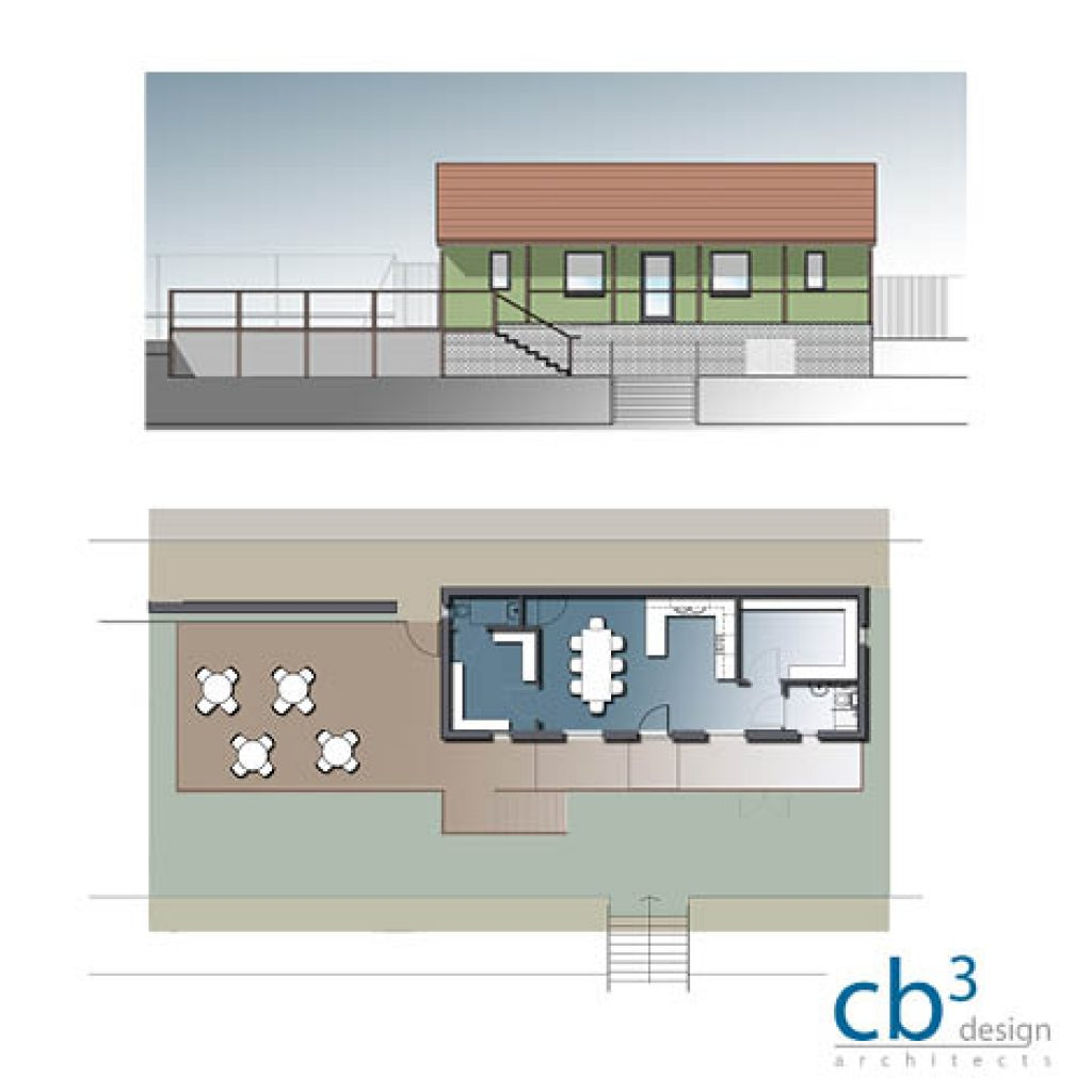 cb3 design: Tennis Club Clubhouse
