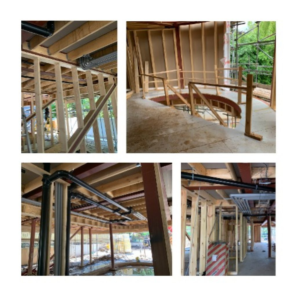 timber frame construction of new build house