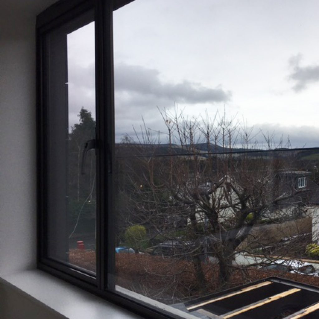 the view from the upstairs living room